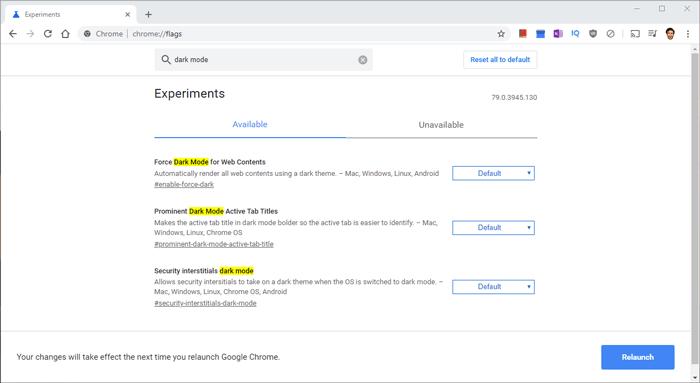 How To Add Dark Mode Google Chrome Flags