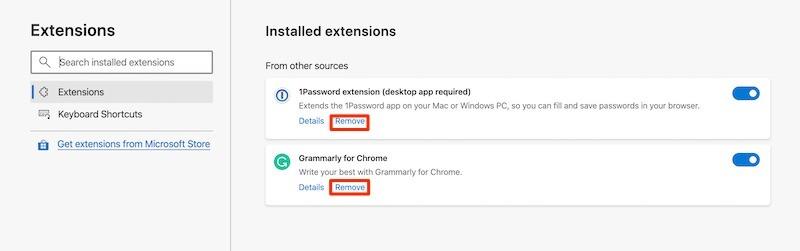 Install Chrome Extensions Microsoft Edge Remove