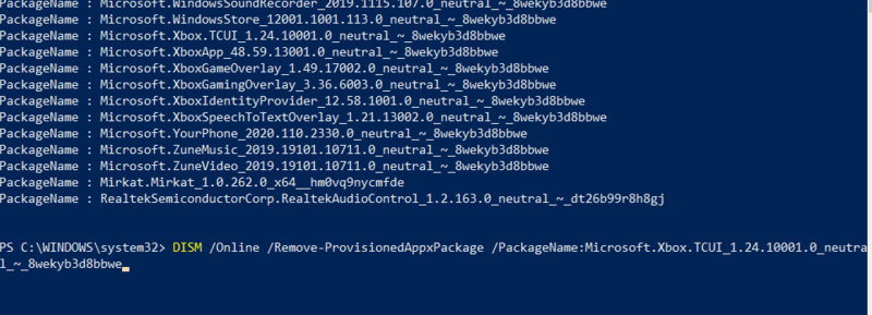 إزالة Bloatware Windows حذف Appxpackage