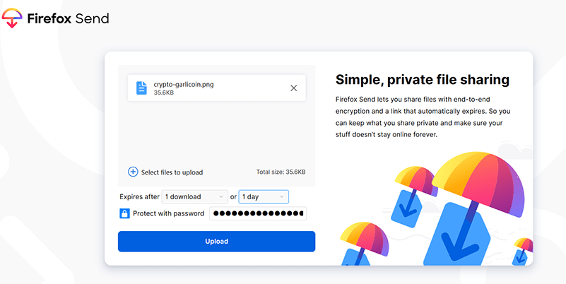 Secure Send Firefox Send