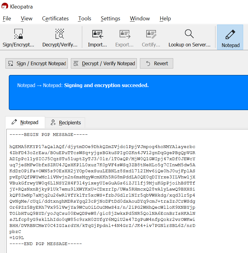 Secure Send Pgp Kleopatra