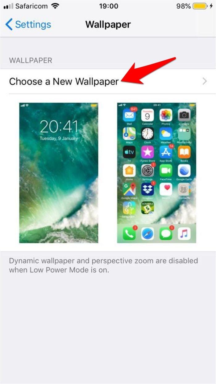 Set Live Wallpaper Iphone Choose New Wallpaper