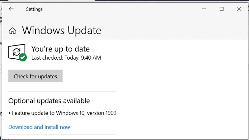 Store Exception Error Download Updates