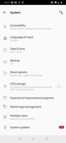 Android System Page