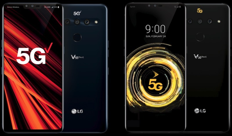 Top 5g Smartphones Lg V50 Thinq 5g