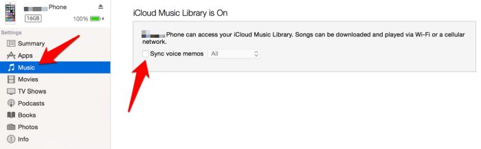 Transfer Voice Notes Iphone Voice Memos Itunes Music Sync Voice Memos