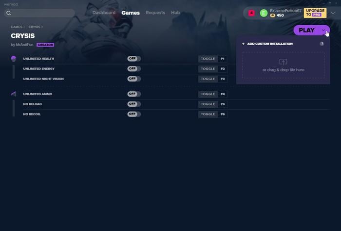 Wemod Custom Game Installation