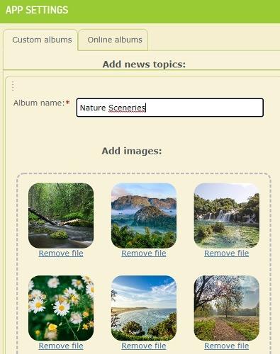 Appsgeyser إضافة وصف وصور خلفيات التطبيق