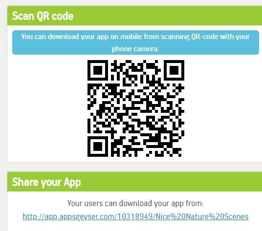 Appsgeyser قم بتنزيل التطبيق Qr Code Share Link