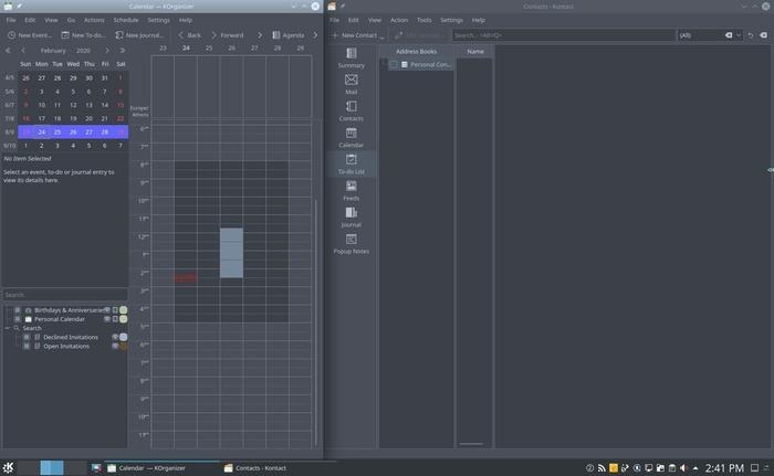 Organize Desktop With Kde Apps Side By Side