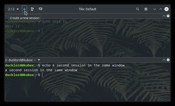 Upgraded Terminal With Tilix New Session Button