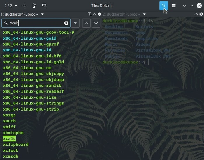 Upgraded Terminal With Tilix Search Terminal