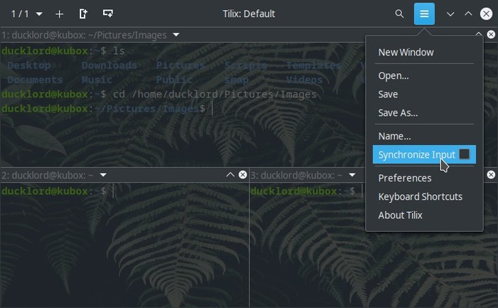 Upgraded Terminal With Tilix Sync Input