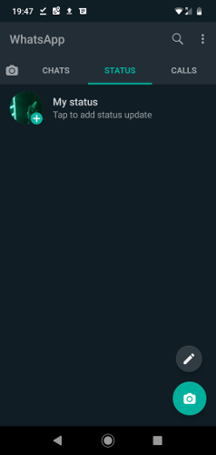 Enable Whatsapp Dark Mode