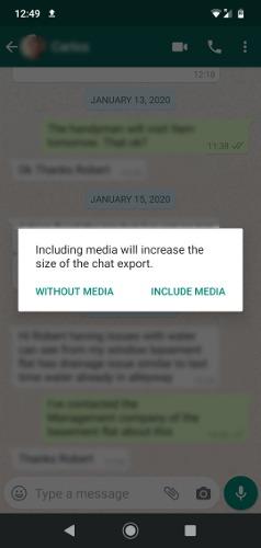 تصدير محفوظات دردشة Whatsapp إلى الكمبيوتر 2