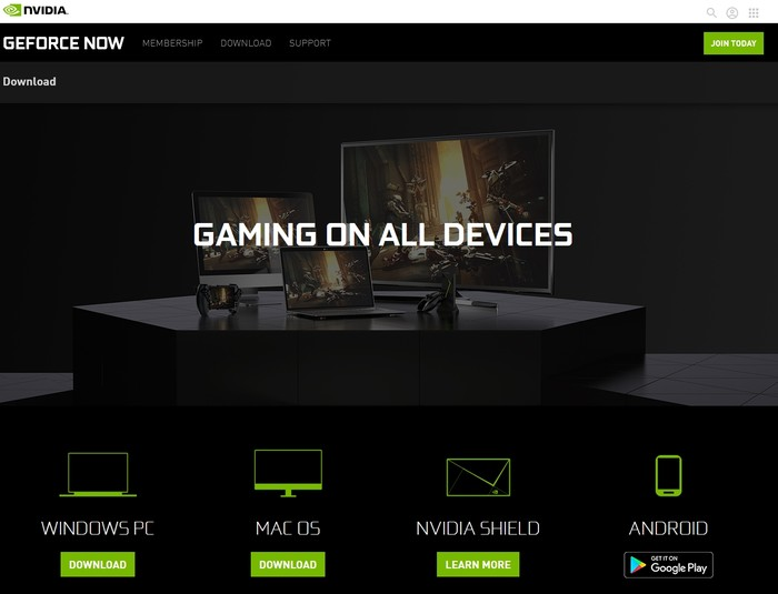 Geforce Now Game Streaming Download Client