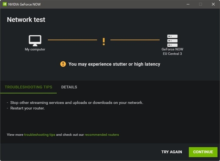 Geforce Now Game Streaming High Latency