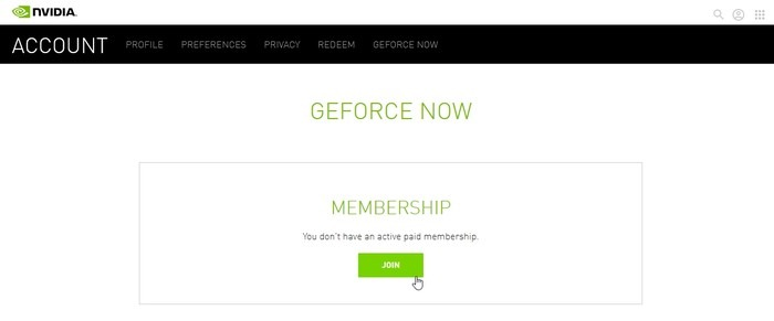 Geforce Now Game Streaming Nvidia Account