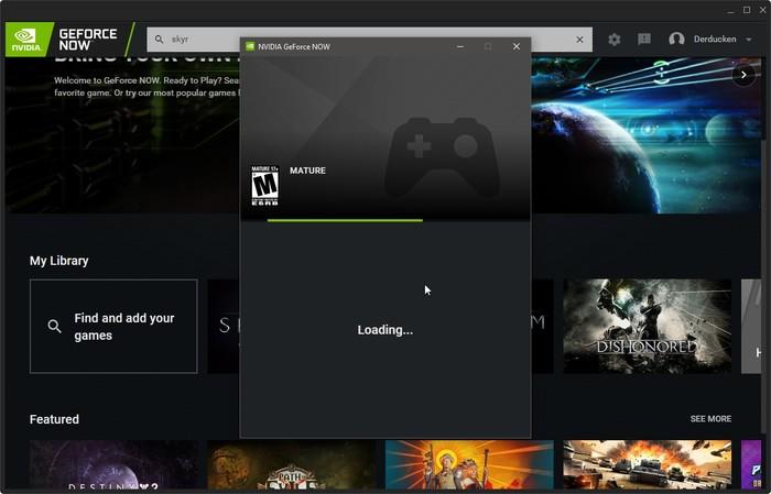 Geforce Now Game Streaming Start Playing