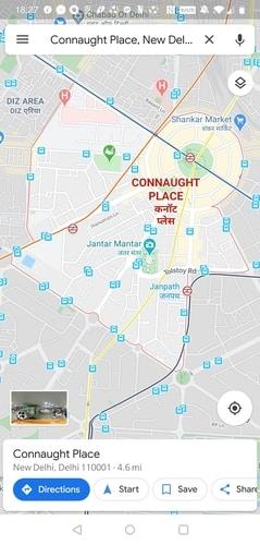 Google Maps Destination