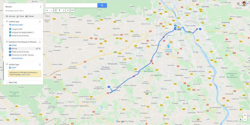 How To Save Route On Google Maps