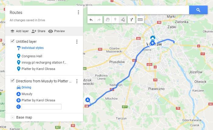 Google मानचित्र मेरे मानचित्र पर मार्ग कैसे बचाएं