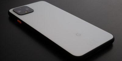 Uk, October 2019: Pixel 4 White Smart Phone On Office Desk