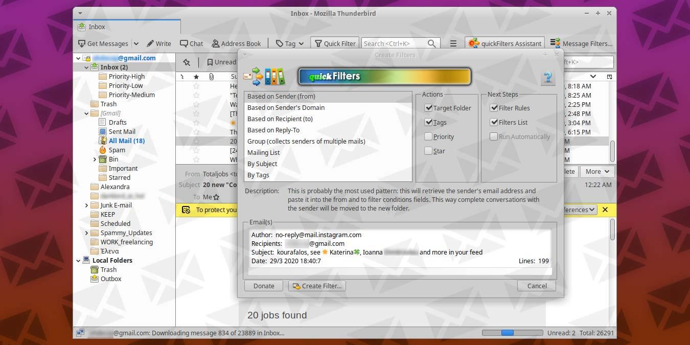 organized-inbox-thunderbird-quickfilters