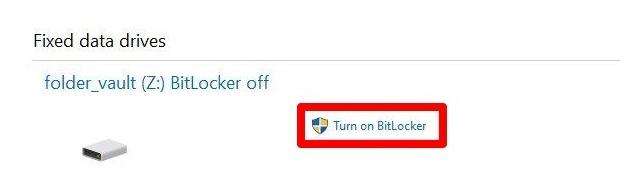 Password Protect Files Folders Windows 10 Bitlocker Drive Encryption Fixed Data Drives Turn On Bitlocker