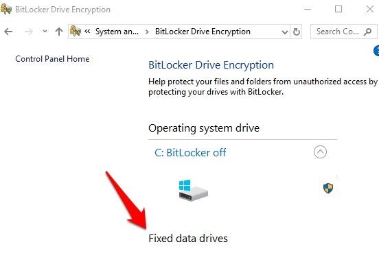 Password Protect Files Folders Windows 10 Bitlocker Drive Encryption Fixed Data Drives