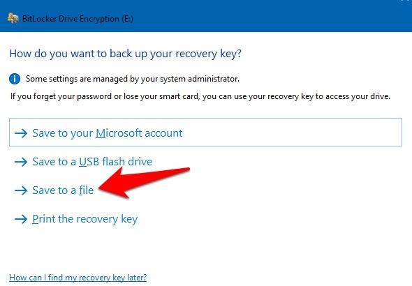 Password Protect Files Folders Windows 10 Bitlocker Save To File