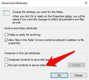 Password Protect Files Folders Windows 10 Folder Properties Advanced Encrypt Contents Secure Data