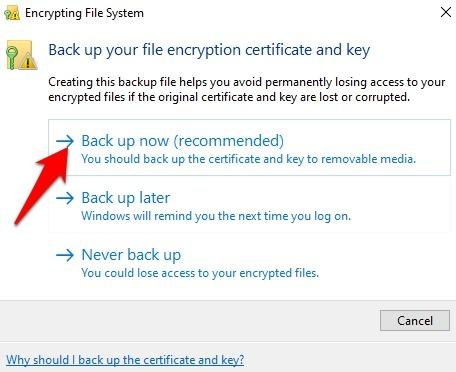 Password Protect Files Folders Windows 10 Folder Properties Backup Now