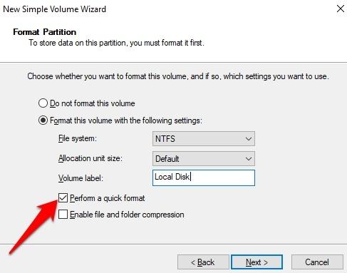 Password Protect Files Folders Windows 10 Perform Quick Format