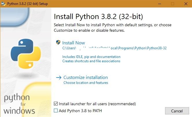 المتصفحات خفيفة الوزن تثبت Python 1