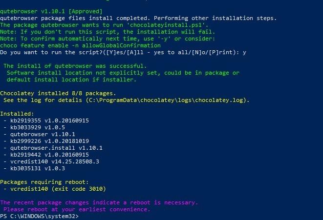 المتصفحات خفيفة الوزن Qutebrowser المثبتة إعادة التشغيل 1