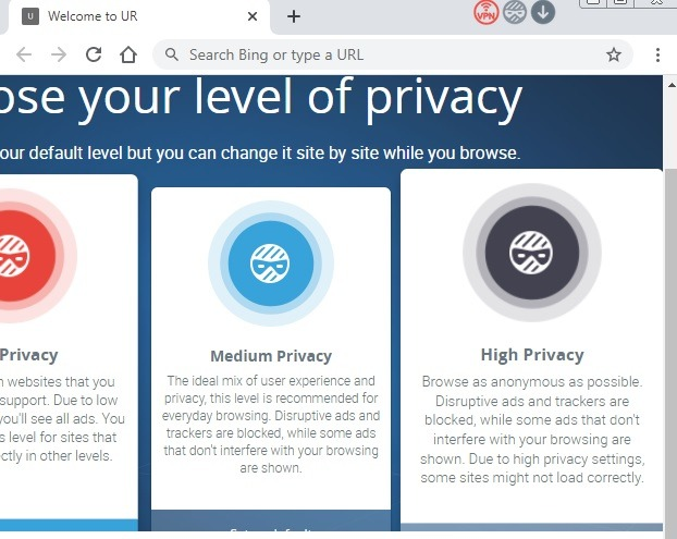 متصفحات خفيفة الوزن إعدادات الخصوصية الخاصة بك