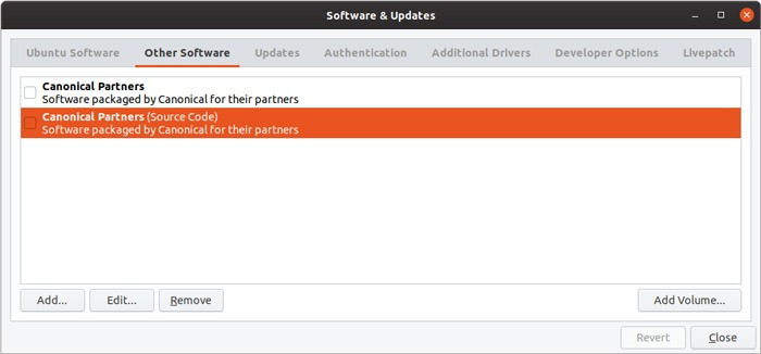 Ubuntu Repository Gui Management Default Repos
