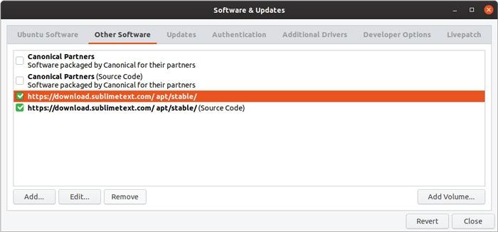 Ubuntu Repository Gui Management Remove Repository