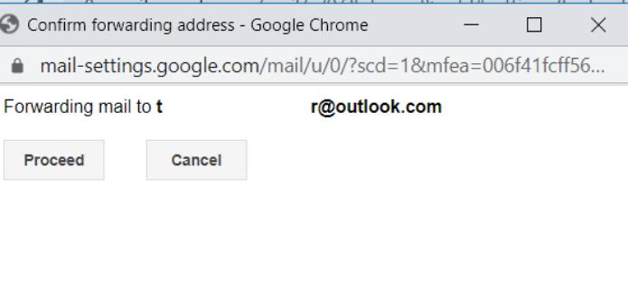 अग्रेषित जीमेल आउटलुक एमटीई आउटलुक 7 के लिए