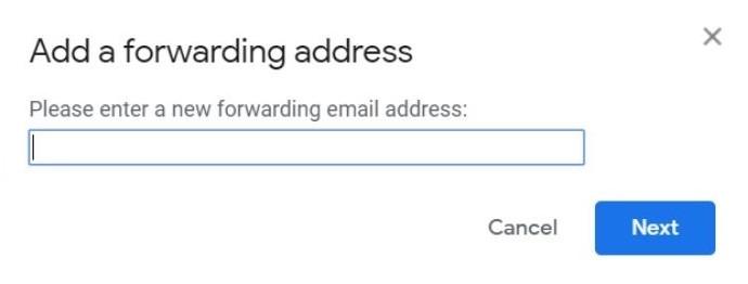 आगे जीमेल जोड़ें पता