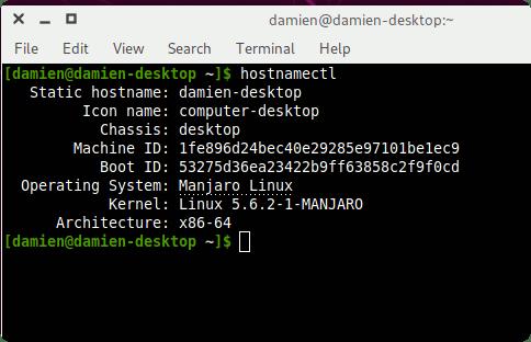 Hostnamectl Information