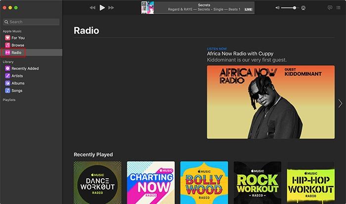 محطة راديو Apple Music Macos