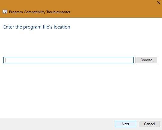 संगतता मोड प्रोग्राम फ़ाइल स्थान 1