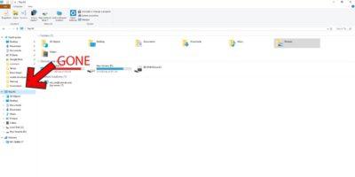 Hide Onedrive In File Explorer Windows Header