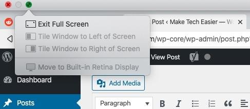 How To Snap Split Screen Macos Exit Split Screen