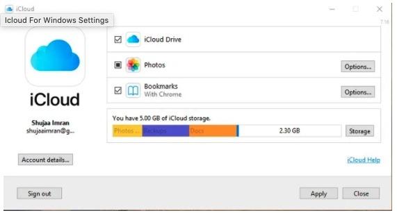 تعرّف على Apple Icloud Windows Install Three