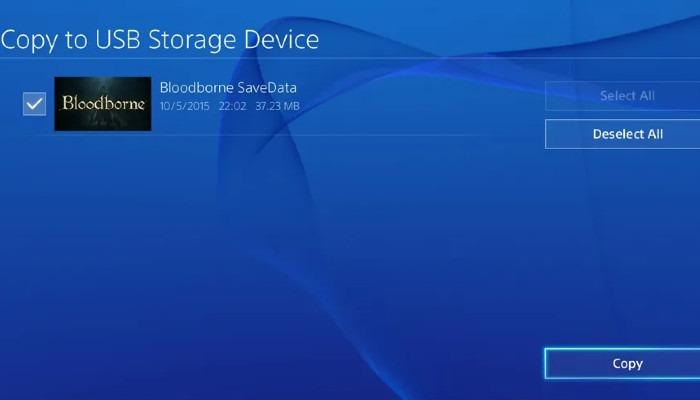 نسخ PS4 إلى Usb