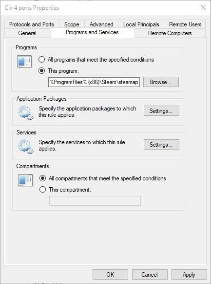 قم بإعداد خدمات برامج إعادة توجيه المنافذ في Windows 10