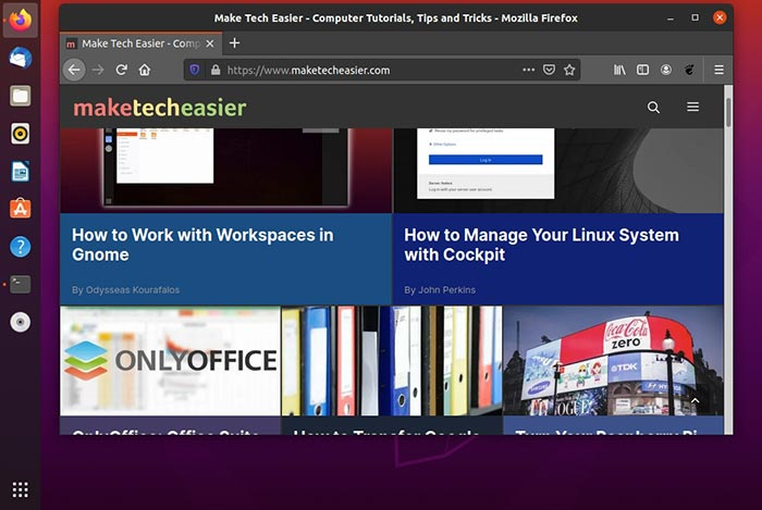 How to Hide the Top Bar and Side Panel in Ubuntu 20.04